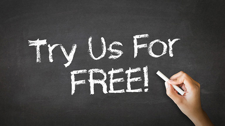 Try Us For FREE!